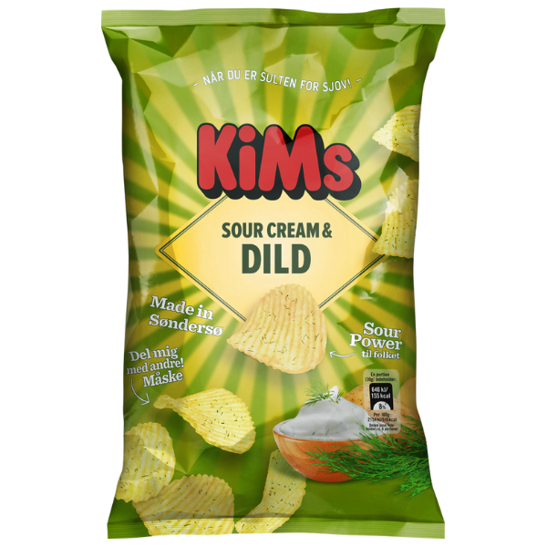 Kalorier i KiMs Sour Cream & Dild